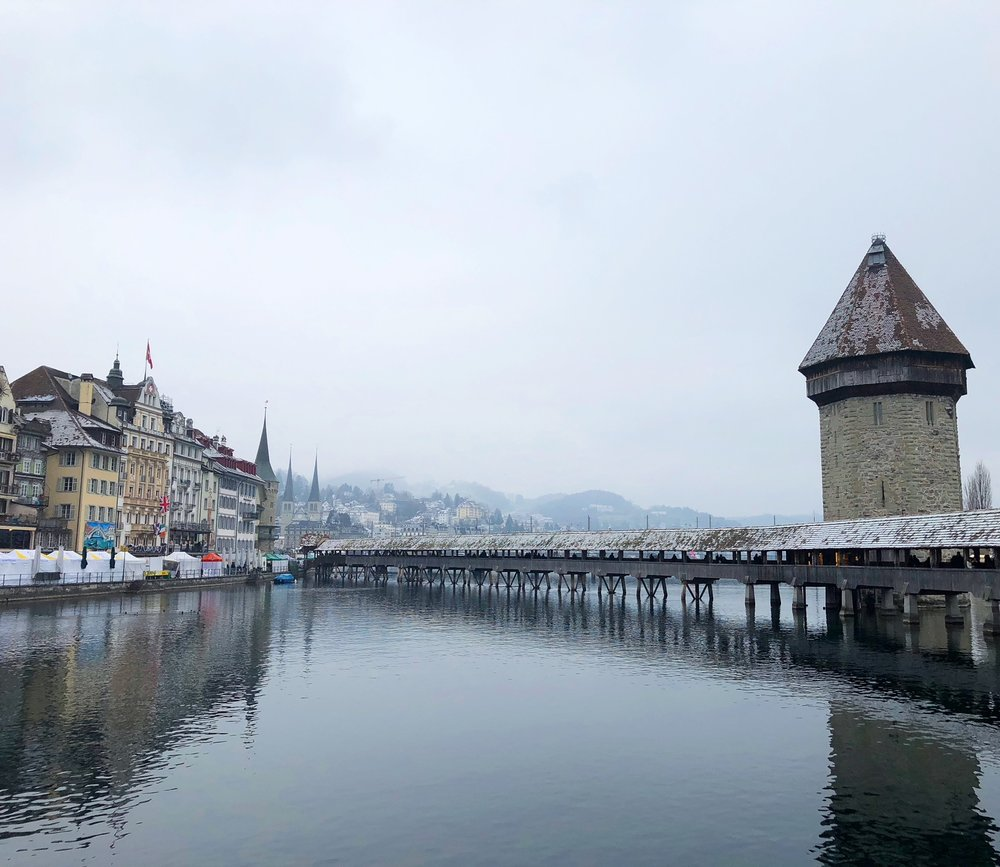 Beautiful, wintry Lucerne
