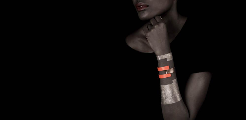 CAMILLE ROUSSEL - Bracelet cuir reversibel