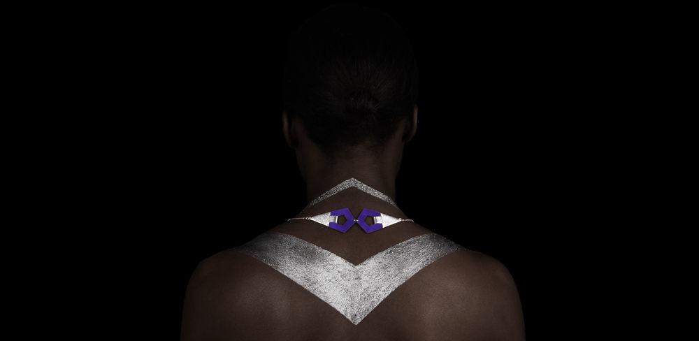 Camille Roussel - bijoux - sautoir en cuir - doré à l'Or fin