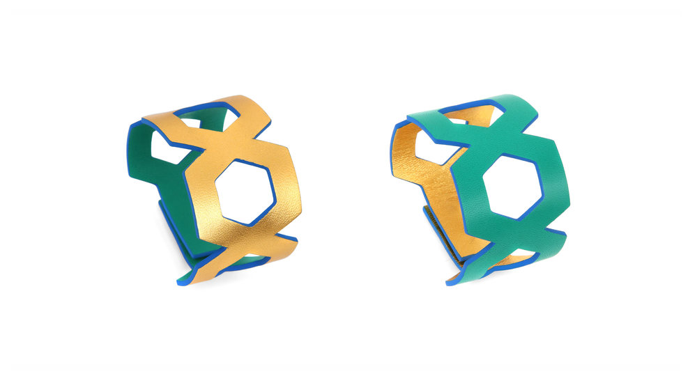 MANON - leather jewel - bracelet - Design - Camille Roussel