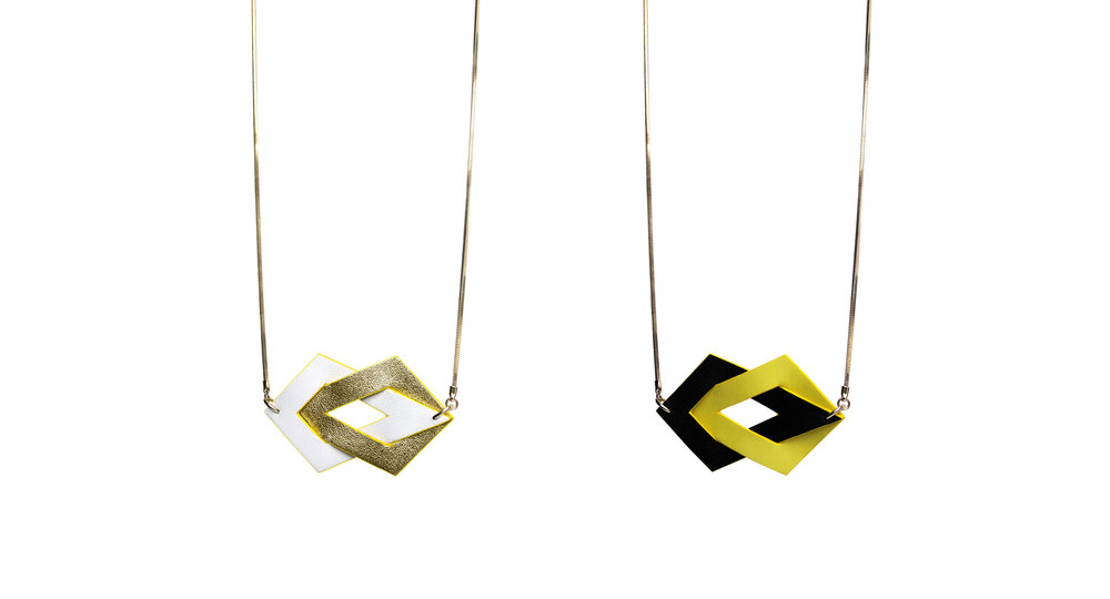 """AMANDINE"" - reversible leather necklace - CAMILLE ROUSSEL"