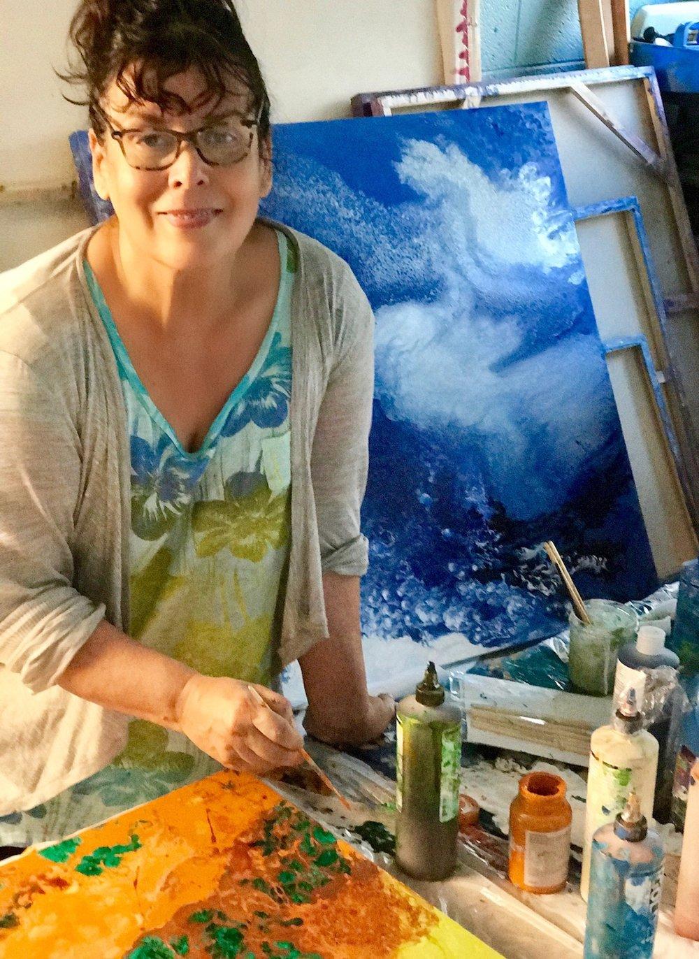 Gaby in her Denver studio.