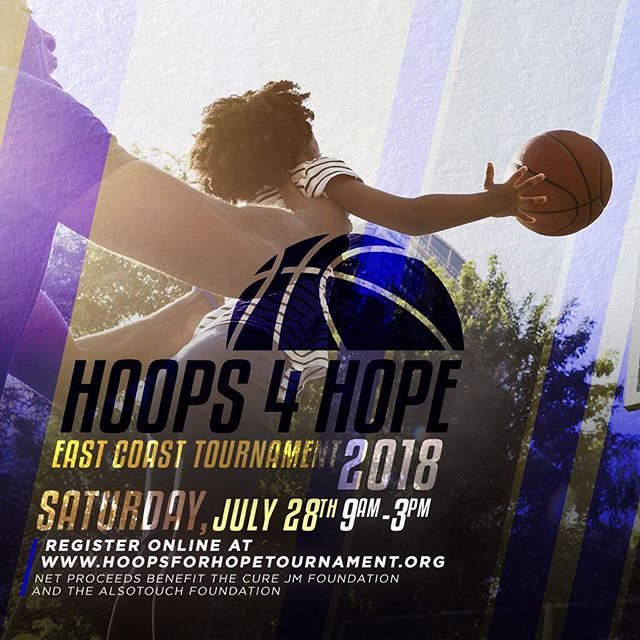 2 MORE WEEKS! . It's not too late to register for the 1st Annual Hoops for Hope: East Coast Tournament! Basketball players (16+ Male & Female), beginner to advanced, are welcome to compete in order to raise awareness about Juvenile Dermatomyositis, and to keep Christiana Powery's memory alive! A portion of the benefits will go toward benefiting the Cure JM Foundation and AlsoTouch Foundation. _____ WHEN: Saturday, July 28th | 9am-3pm WHERE: Main Gym @ Baruch College | 55 Lexington Avenue, NY To register, and for more information, please visit www.hoopsforhopetournament.org