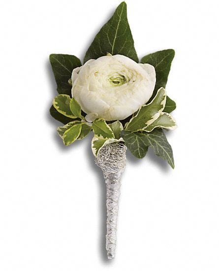 Blissful white boutonniere oakland florist flower delivery by blissful white boutonniere mightylinksfo