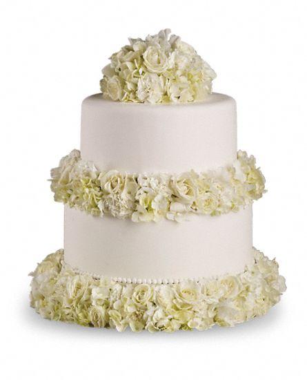 Sweet White Cake Decoration Oakland Florist