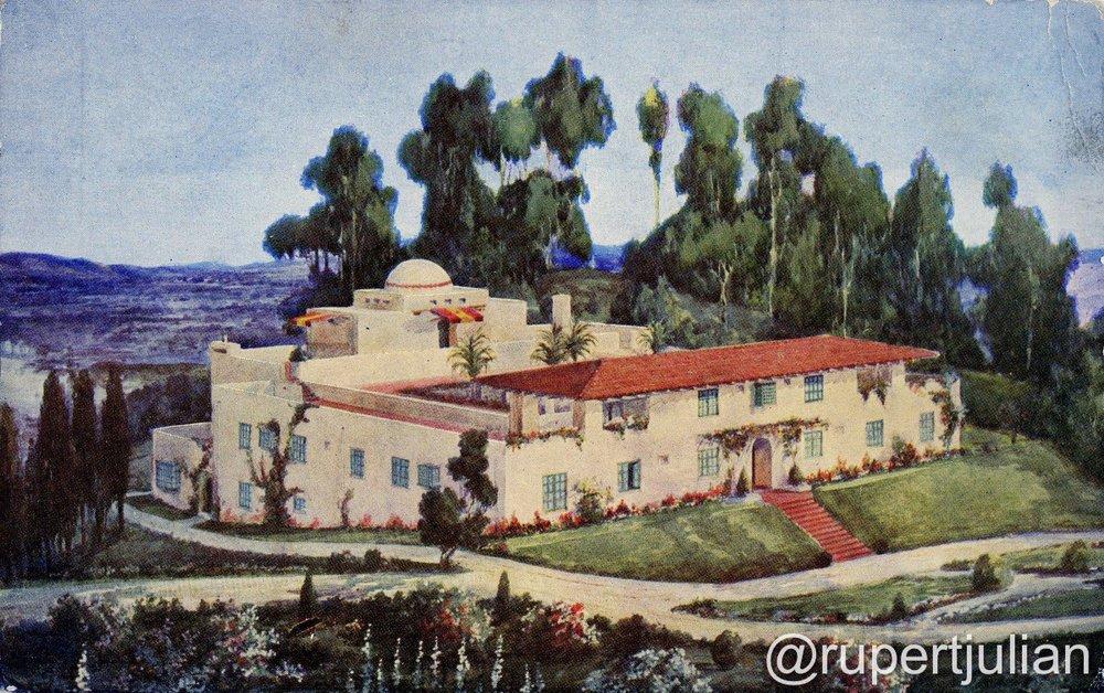 Krotona Court postcard, Los Angeles