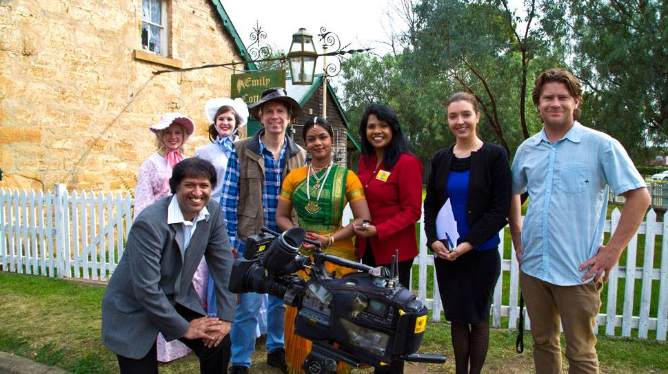 'Celebrate Campbelltown' artistic team with Channel 7 News Crew