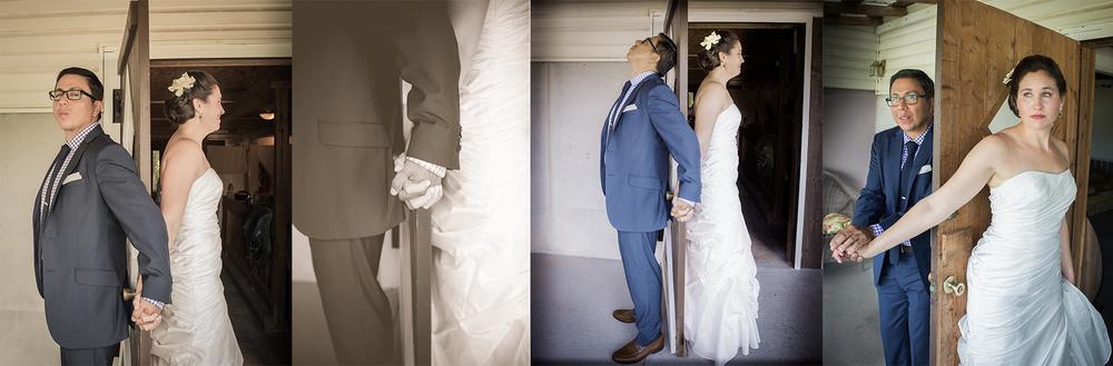 Wedding photography chapel hill nc - Couple holding hand behind door