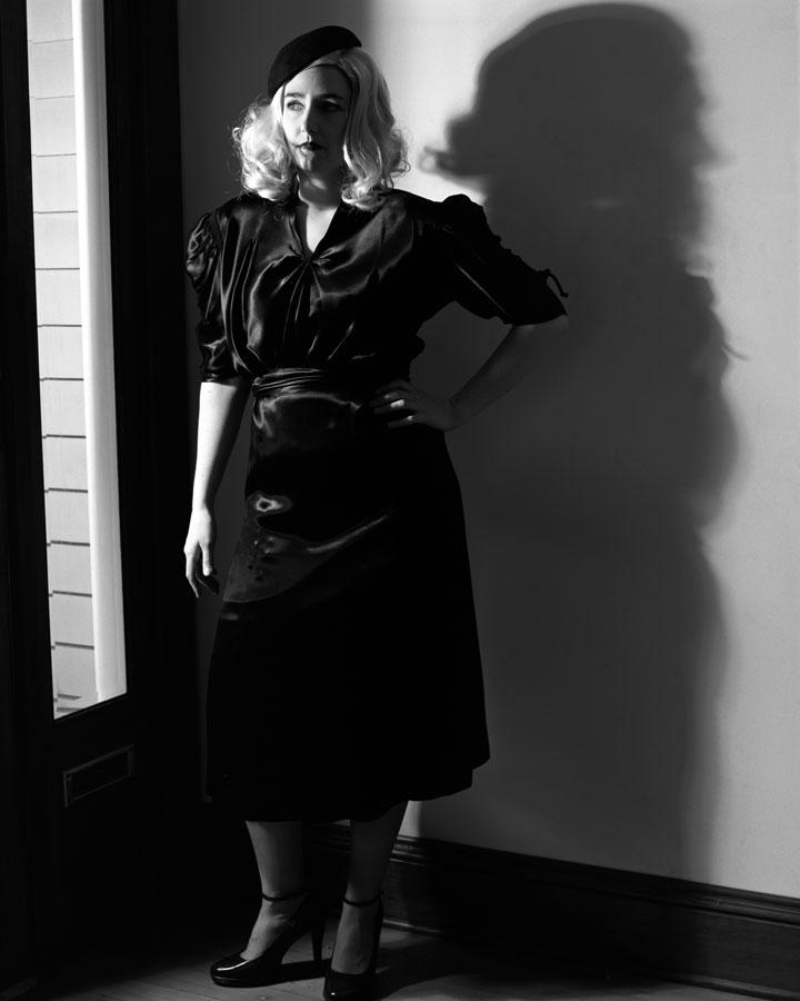 As Lauren Bacall in 'The Big Sleep'