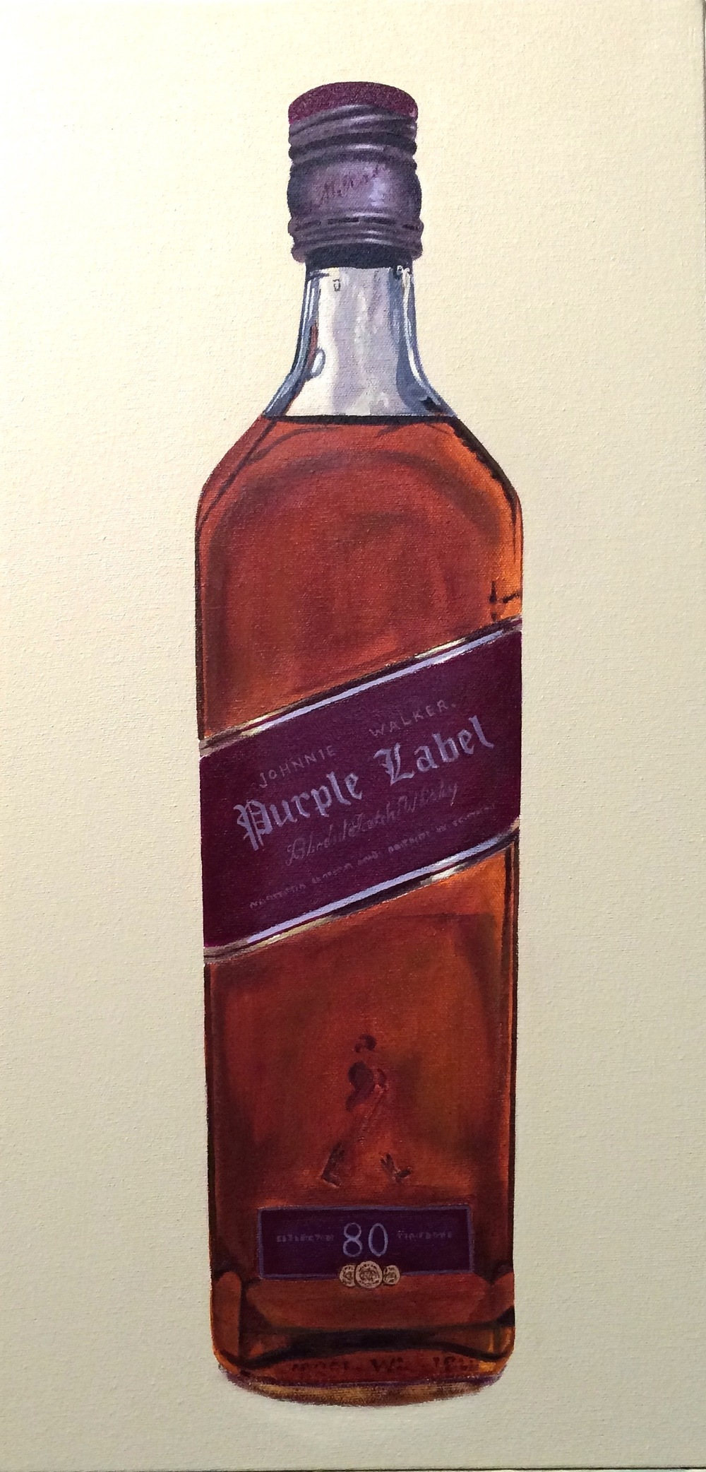 "Purple Label   acrylic on canvas  24""  x12"""