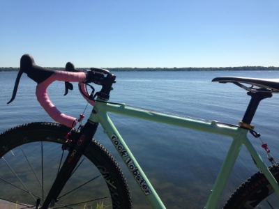 Just my bike, the lake, and some sunshine.