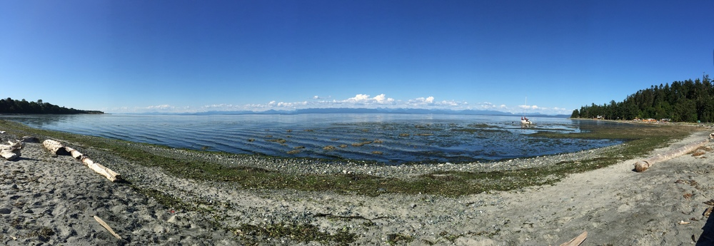 Panorama of the bay when the tide is in.
