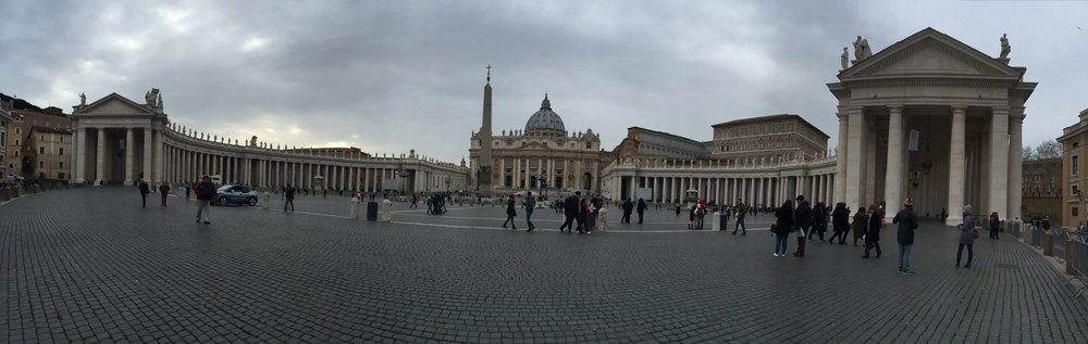 The Vatican in Rome.  6 hours of playing tourist, and my hip was toast!