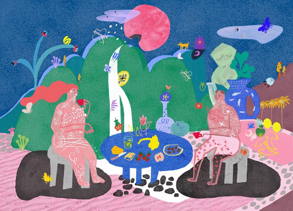 Tea time under the peach moon 2017