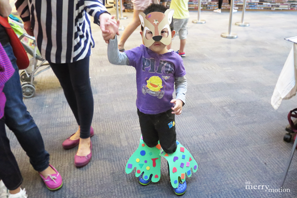 Story Telling Props - Mouse Deer Mask & Monster Feet | A Craft Party by In Merry Motion 13.jpg