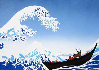 Hokusai Christmas