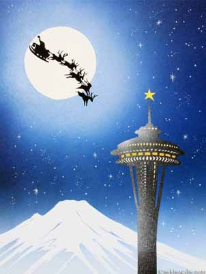 Santa Space Needle