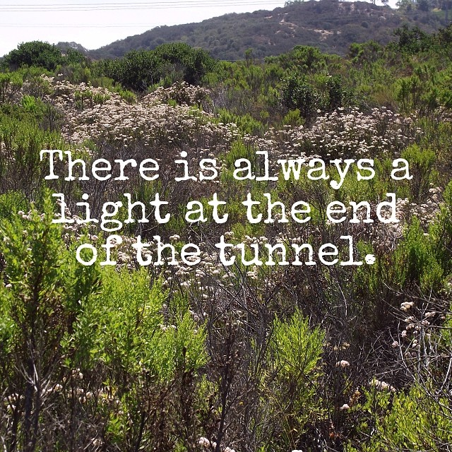 There is always a light at the end of the tunnel. This is my reminder for the new year. With that, I see big things for Intuitive Mothers Circle for 2014. I hope you will share in my journey. Happy New Year. #intuitivemotherscircle
