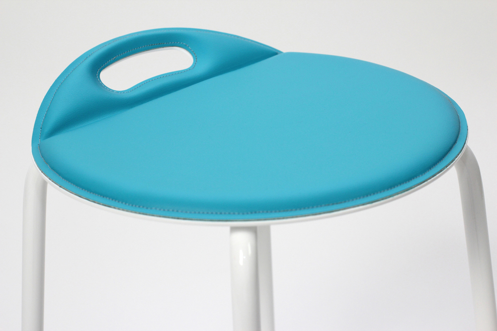 (Bent) DOT Stool is a winner of the 2014 ICFF Studio Award (shown with magnetic seat cover).