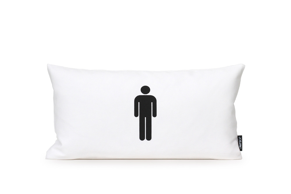 Mr. Pillow; 100% cotton twill cover with 95/5 goose feather/down insert.