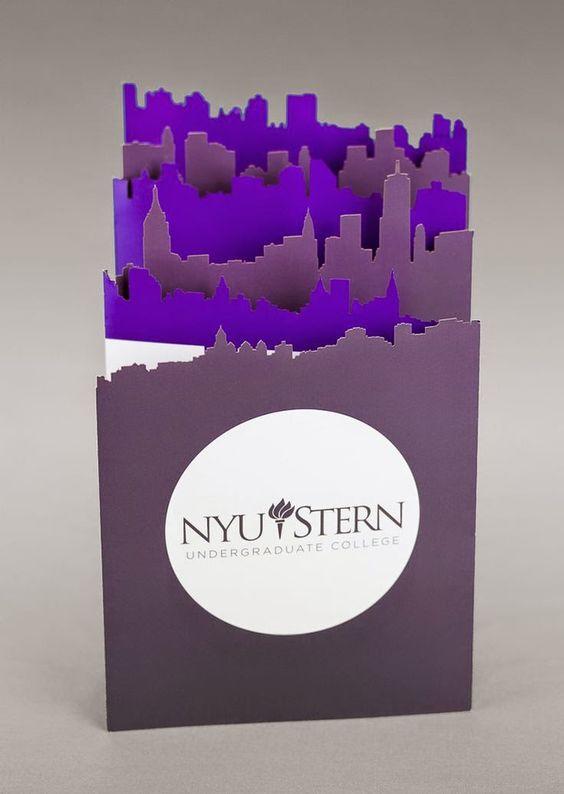 Die-cut Piece—NYU Stern Undergrad