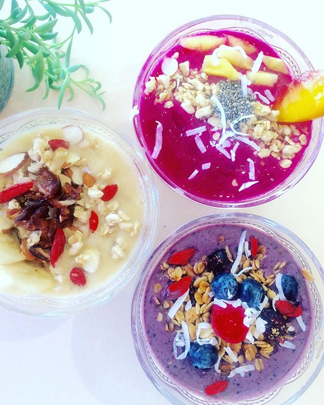 Acai, Dragon, Power bowls. Breakfast is served. #fulfillment #acai #santamonica #healthy #healthychoices