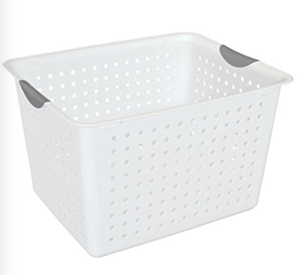 This was the Perfect size basket.  Not to big, but large enough to fit folded clothes.  Click on picture to take you to the amazon link.