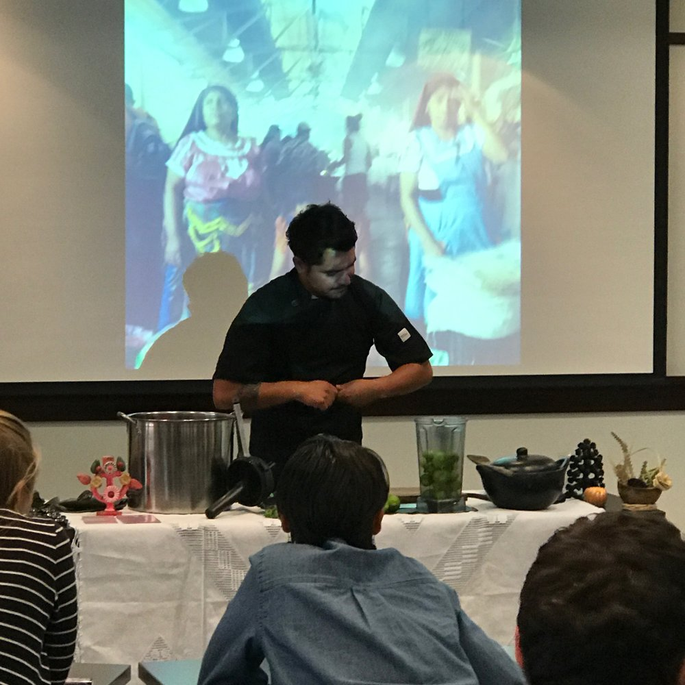 cooking demonstration Evanta portland oregon