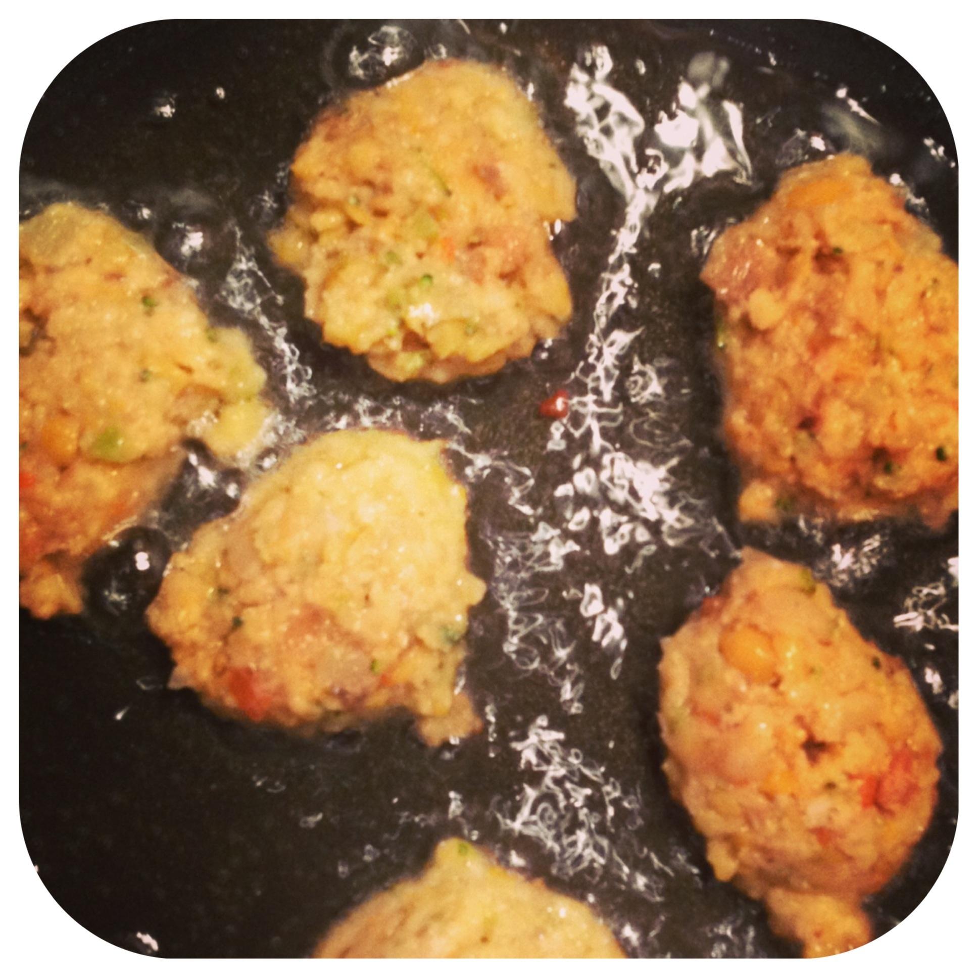 Patties in the pan