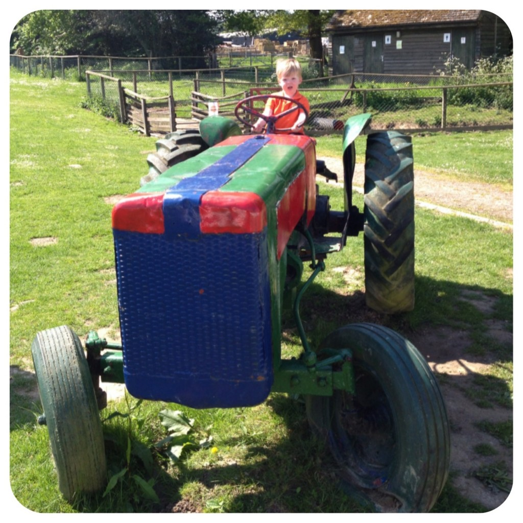 Oliver on the Tractor