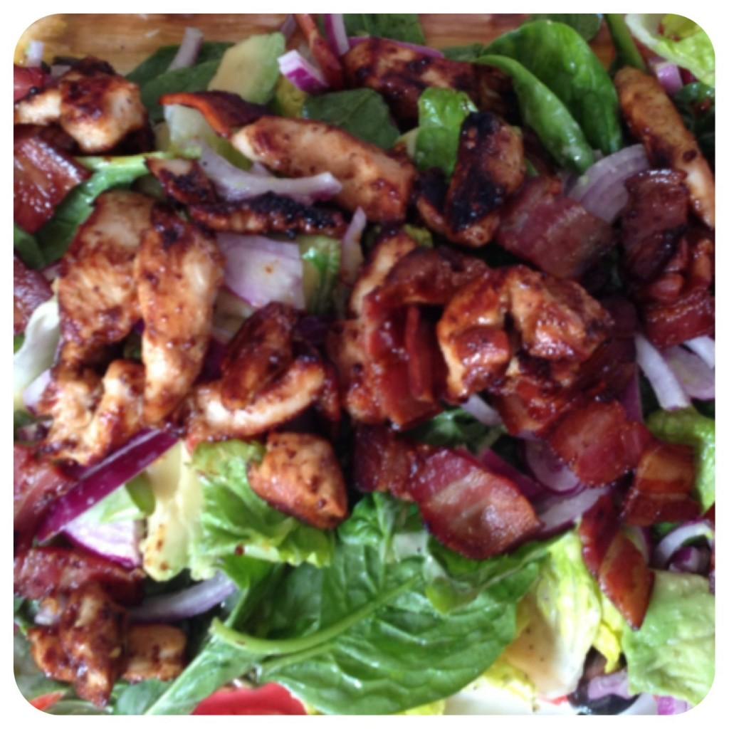 Warm chicken & bacon salad