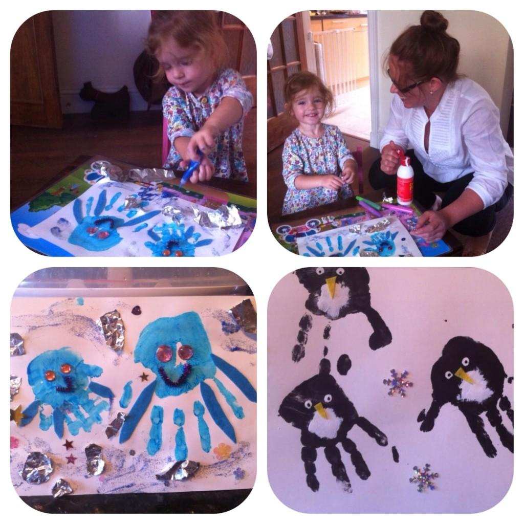 Mummy & Ava making Octopus & Penguins,