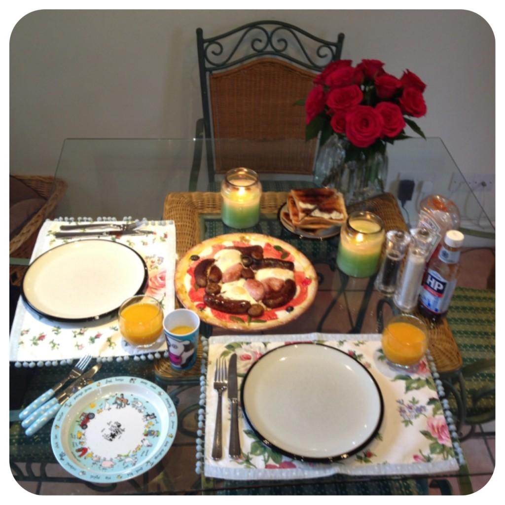 Pretty breakfast table