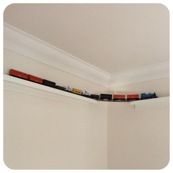 A Wall Mounted Train Set Abeille Cellular Blankets