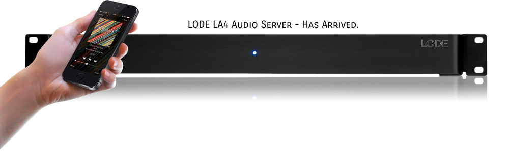 The Lode Audio LA4 multi zone player and iOS app.