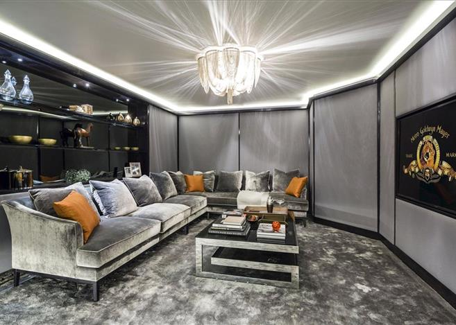 Mayfair Townhouse - A recently finished project. Basement cinema with Crestron control, Lutron lighting.