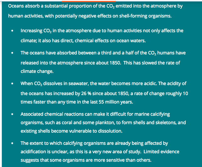 Ocean acidification - https://coastadapt.com.au/ocean-acidification-and-its-effects