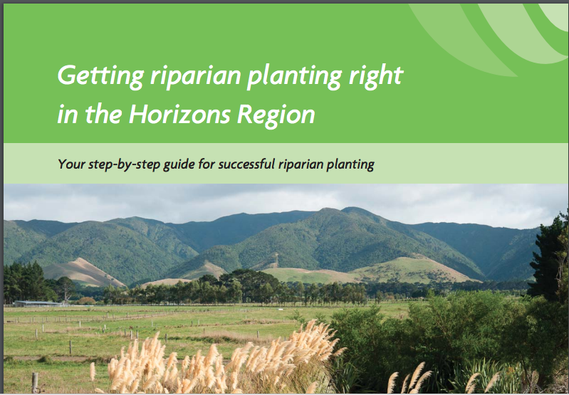 - Horizons Regional Council publication Getting things right in riparian planting.