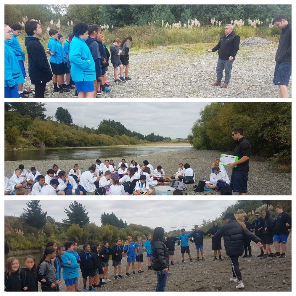 Students visit ancient site - Mr Currie Regional Manager Higgins concrete provided the group with access to the Awapuni quarry site adjacent to our Palmerston North Concrete.Rangatahi were able to pay their tribute and respect and collected mauri to represent their uniqueness.Horizon Scientist Mike Patterson equipping our youth with the scientific knowledge so we can all work together in guarding our taonga, Māori takaro, tikanga, natural resources.