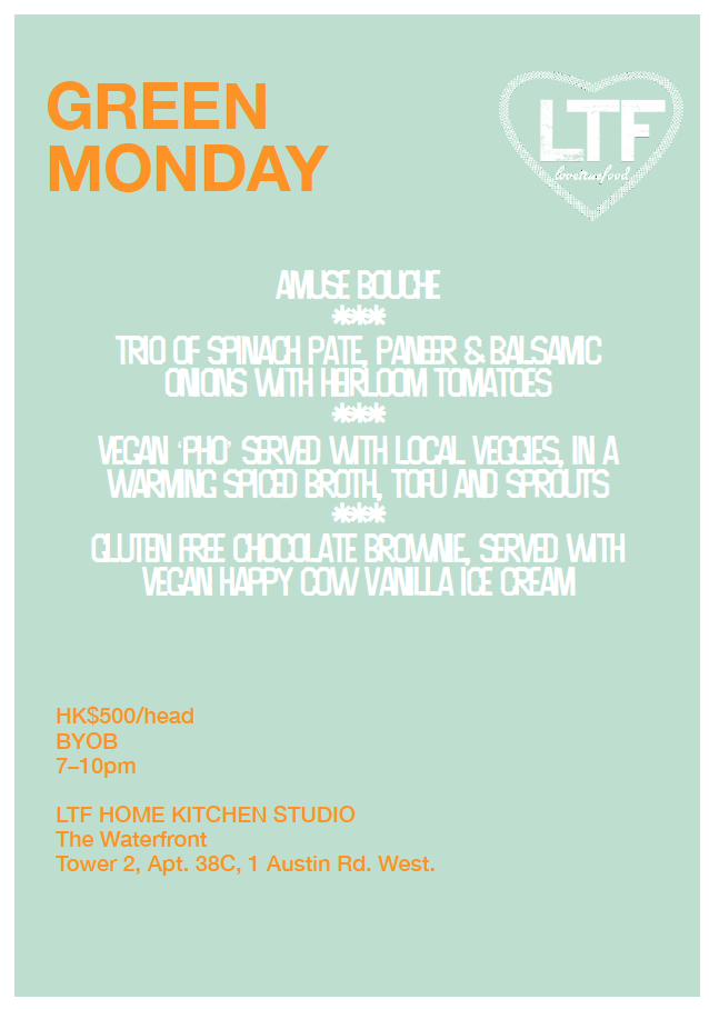 Green Monday Menu