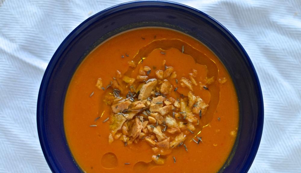 red pepper & butternut squash soup
