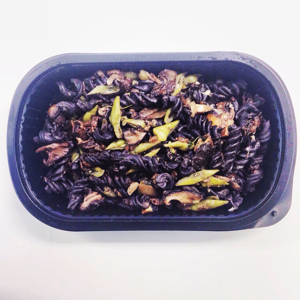 Black Bean Pasta with Mushrooms and Truffle Oil * (can buy at Shop LTF)