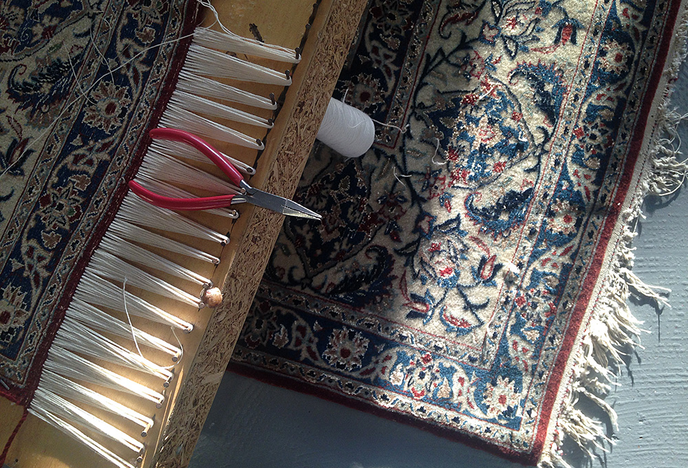 Rug Repair - Our talented restoration team can work on all aspects of your rug or carpet∙Securing frayed fringes∙Rebinding the sides (selvedges)∙Re-piling holes and worn/moth-damaged areas∙Colour-run removalCost:Prices on Inspection