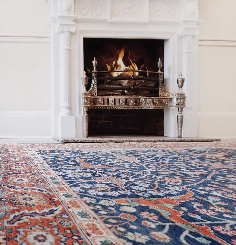 RUG OF THE MONTH: FEBRUARY - A little dash of colour can make even the coldest of winters seem like spring. That's why we chose this beautiful large Classic Tabriz carpet hand knotted in India as our rug of the month for February.