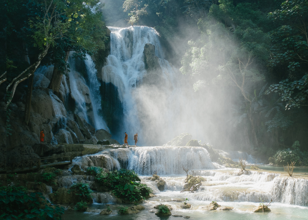 Waterfall, Laos, 2014