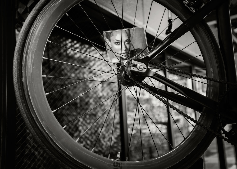 Woman in Spokes, Yokosuka, 2016