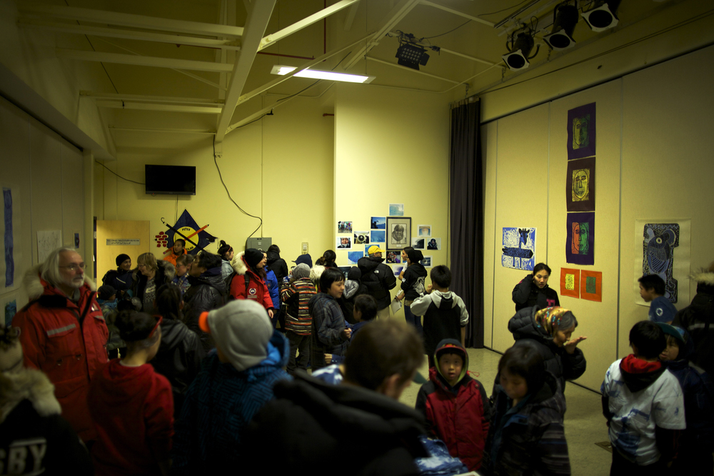 Crowd at the Embassy of Imagination art show