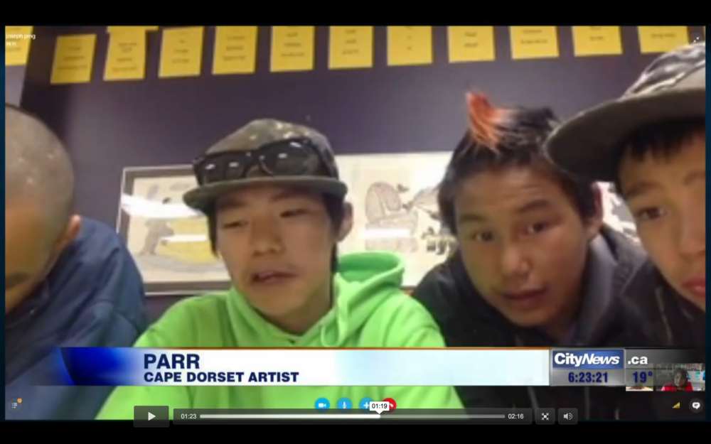 Cie, Parr, Audi and Latch (left to right), on City TV News!