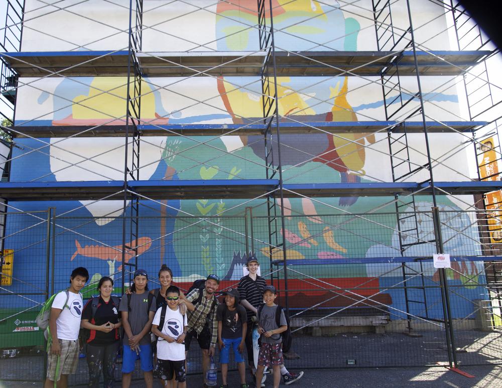 Left to Right: Parr Josephee, Susan Rowsell, Salomonie Ashoona, Alexa Hatanaka, Tommy Quvianaqtuliaq, Patrick Thompson, Johnny Samayualie, Aidan Price-Bottenberg, Saaki Nuna