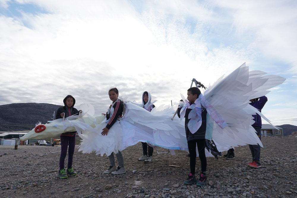 Goose hunting season inspired this real team effort. Photo: Leah Mersky